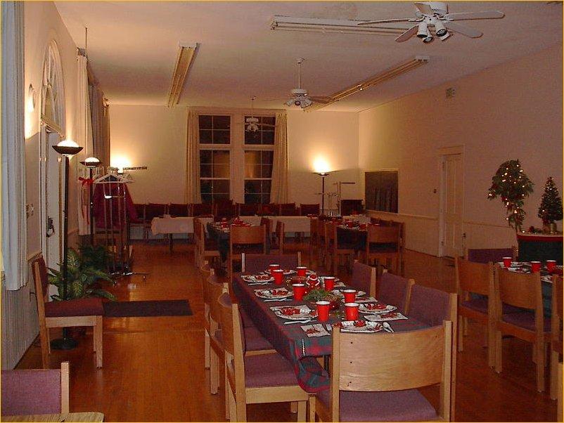 Main Sanctuary Set up for wedding reception christmas wedding reception